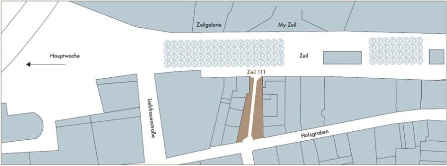 Lageplan Else-Kröner-Passage Zeil 111
